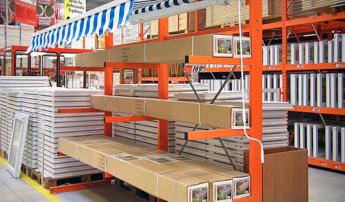 Promotional cantilever rack