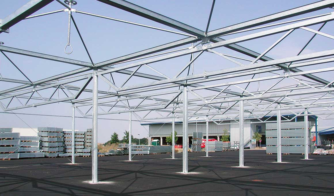 Brass bedouin tents girders