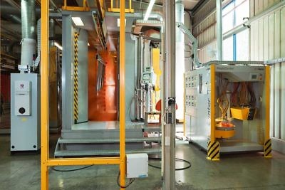 Brass powder coating process