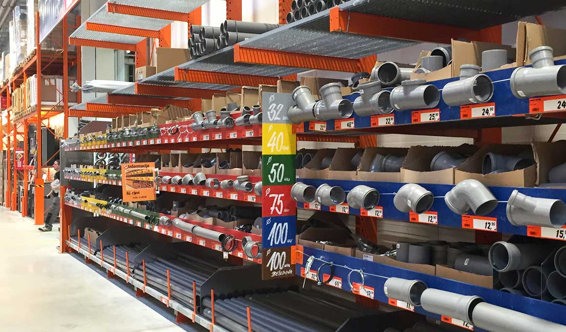 Cantilever rack building supply
