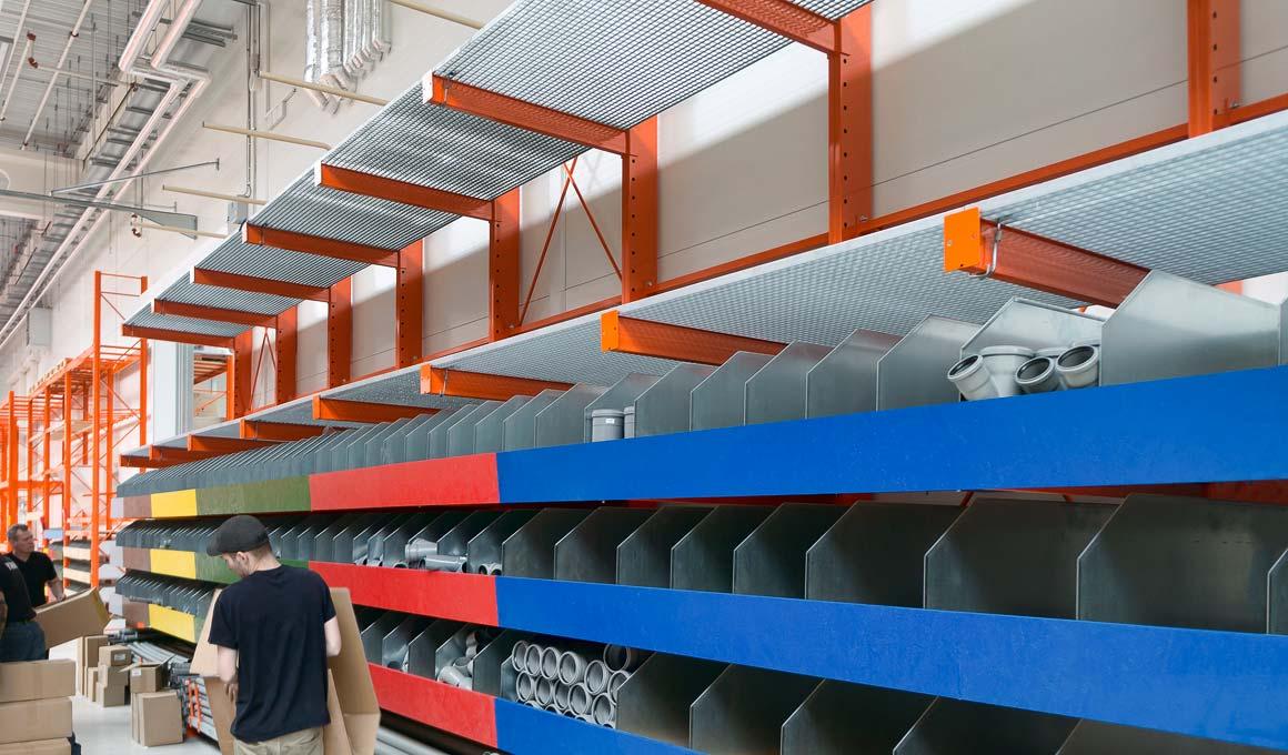 Cantilever storage rack