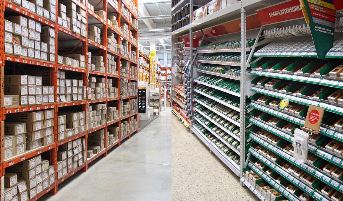 Small parts supply storage