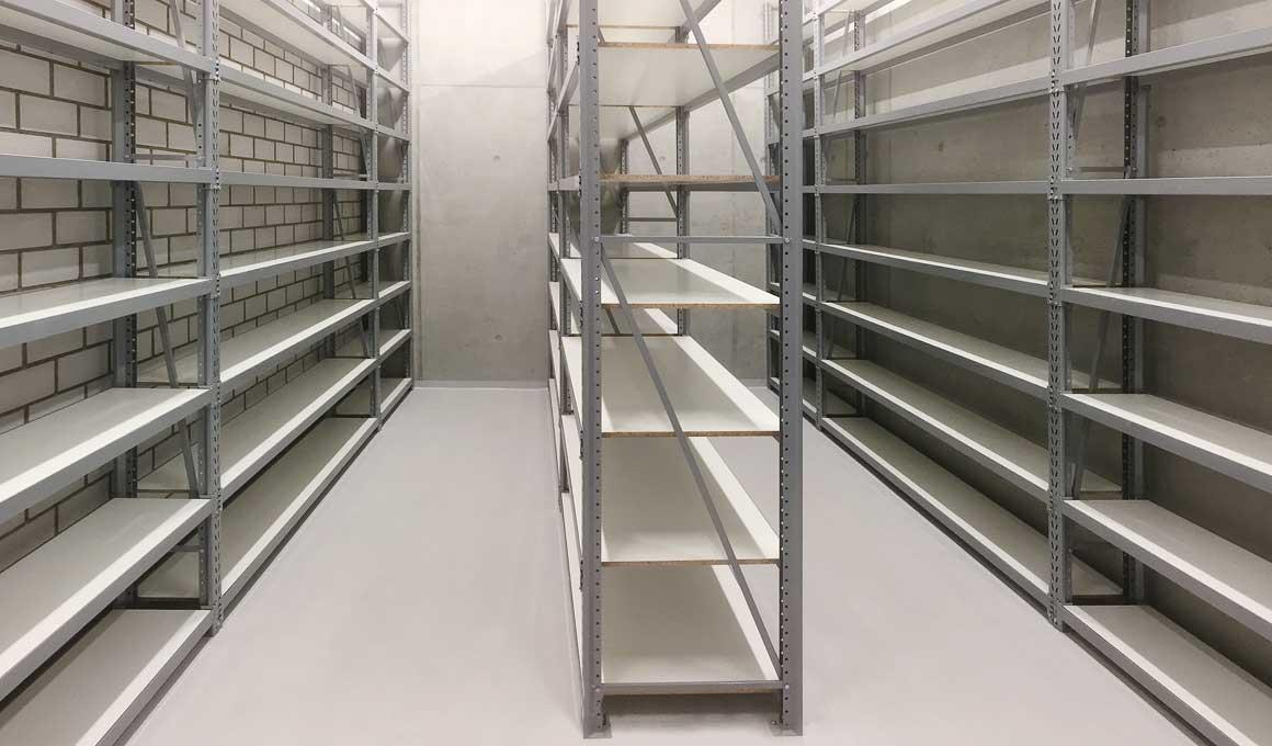 LPR archive shelves