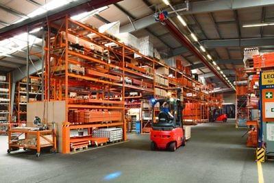 Brass storage warehouse shelf accessories