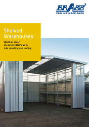 Brass shelved warehouses brochure