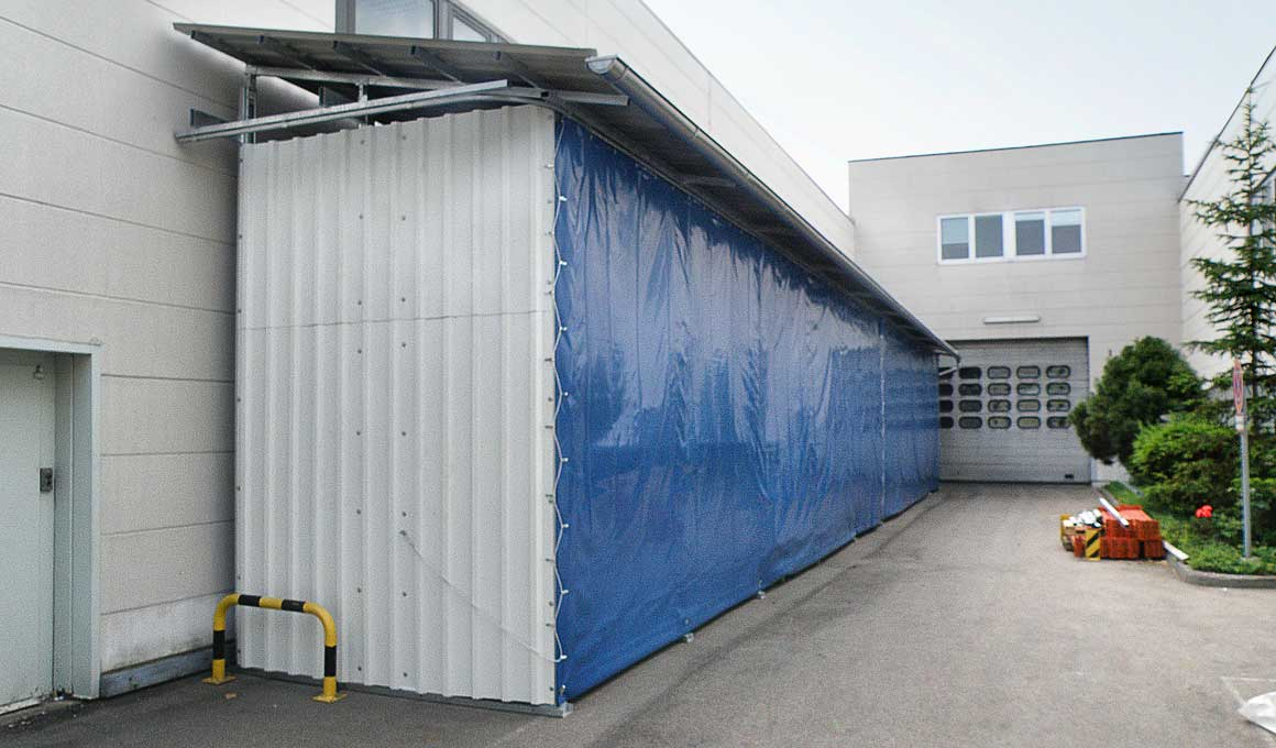Schwerlastlager SL100 Außenlager mit Wandverkleidung